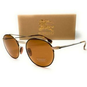 Burberry Men's Gold Black and Brown Sunglasses!